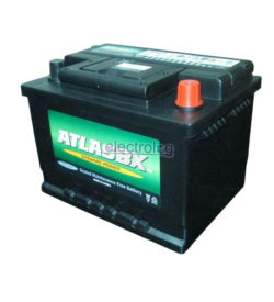 BAT0628AR, Battery, Atlas, 12V, 45A, 390CCA, Recessed