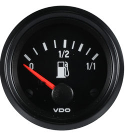 GAF002, Gauge, Fuel, 12V, VDO, 52mm, Cyl Sender