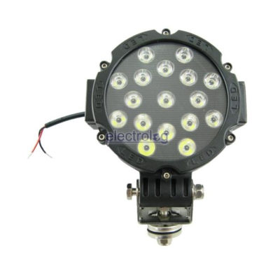 LSP303, Light, Round, Spot, 9-32V, 51W, 17 LED, Black