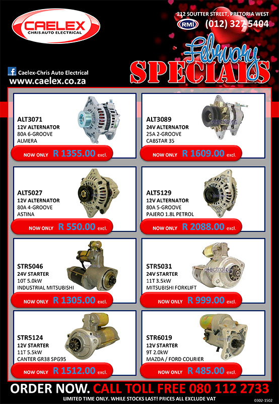 Special offers February 2020 - Auto Electrical Parts