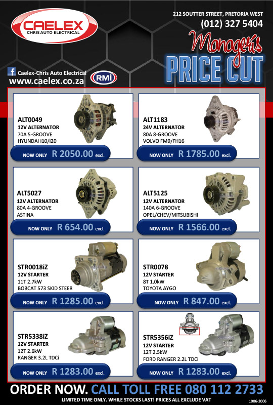 Managers Special - CAELEX - Auto Electrical Parts